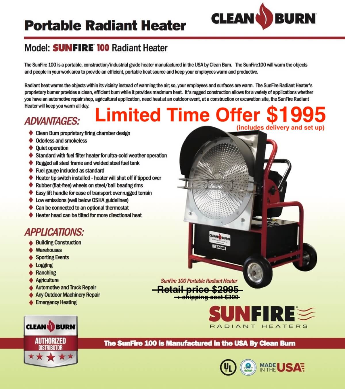 Current Offers Specials Amp Financing Eco Waste Oil Heaters
